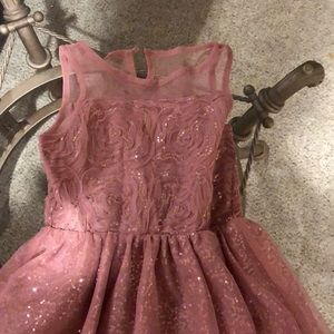 Girls Blush Dress. Worn once. Great condition.